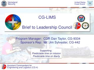 CG-LIMS Brief to Leadership Council