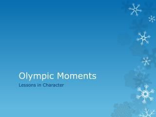 Olympic Moments