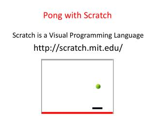 Pong with Scratch