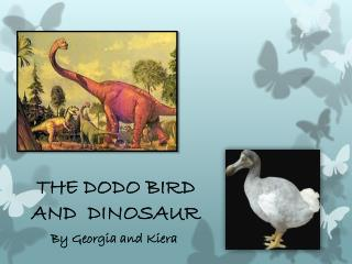 THE DODO BIRD AND  DINOSAUR