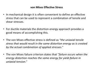 von Mises Effective Stress