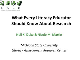What Every Literacy Educator Should Know About Research