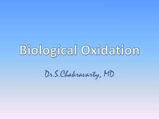 Biological Oxidation