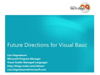 Future Directions for Visual Basic