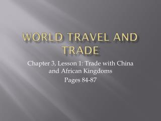World Travel and Trade