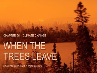 CHAPTER  26 CLIMATE CHANGE WHEN THE TREES LEAVE Scientists grapple with a shifting climate