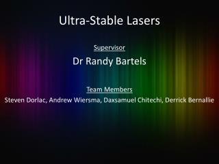 Ultra-Stable Lasers