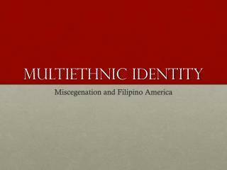 Multiethnic identity