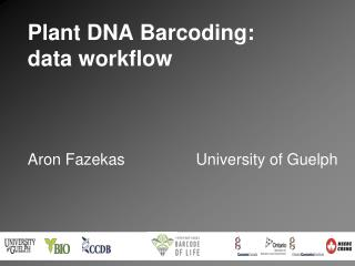 Plant DNA Barcoding:  data workflow