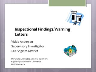 Inspectional Findings/Warning Letters
