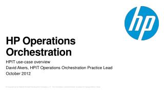 HP Operations Orchestration
