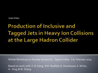 Production of Inclusive and Tagged Jets in Heavy Ion Collisions  at the Large Hadron Collider