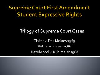 Supreme Court First Amendment Student Expressive Rights