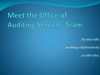 Meet the Office of Auditing Services Team