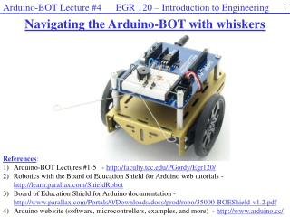 Navigating the  Arduino-BOT  with whiskers