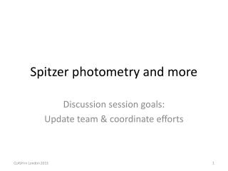 Spitzer photometry and more