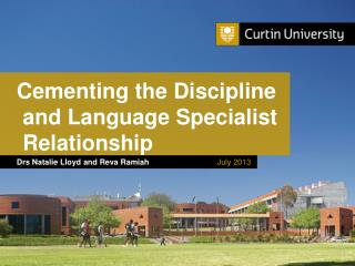 Cementing the  Discipline and Language  Specialist Relationship