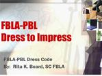 FBLA-PBL Dress to Impress