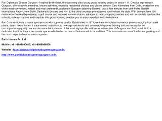 Puri Diplomatic Greens Gurgaon - 9999990015
