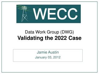 Data Work Group (DWG) Validating the 2022 Case