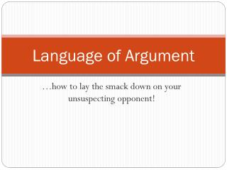 Language of Argument