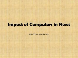 Impact of Computers in News
