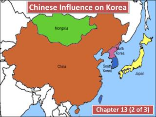 Chinese Influence on Korea