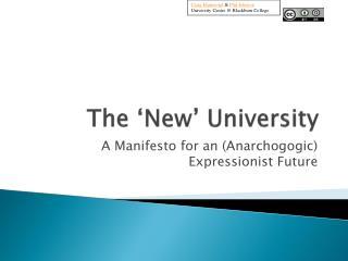 The 'New' University
