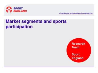 Market segments and sports participation