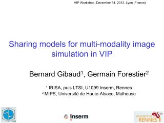 Sharing  models  for multi- modality  image simulation in VIP