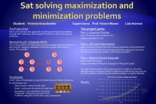 Sat solving maximization and minimization problems