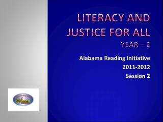 Literacy and Justice for ALL Year – 2