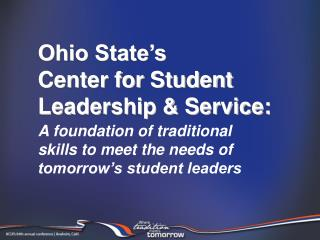 Ohio State's Center for Student Leadership & Service: