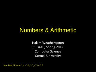 Numbers & Arithmetic
