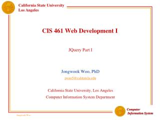 CIS 461 Web Development I