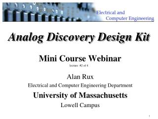 Analog Discovery Design Kit Mini Course Webinar lecture   #2 of 4