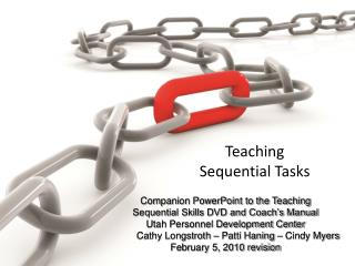Teaching Sequential Tasks