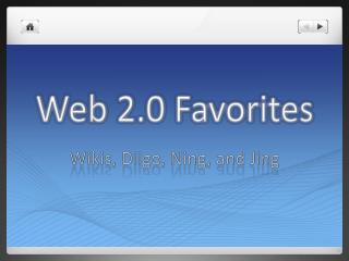 Web 2.0 Favorites