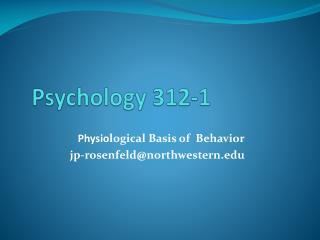 Psychology 312-1
