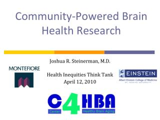 Community-Powered Brain Health Research