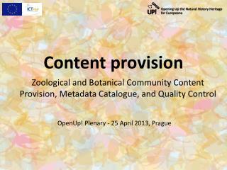 Content provision