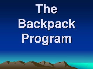 The Backpack Program