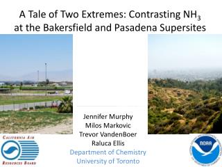 A Tale of Two Extremes: Contrasting NH 3  at  the Bakersfield and Pasadena  Supersites