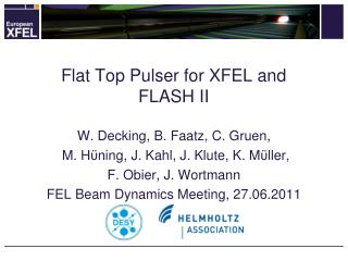 Flat Top Pulser for XFEL and FLASH II