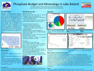Phosphate Budget and Mineralogy in Lake Ballard