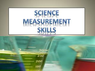 Science  Measurement skills