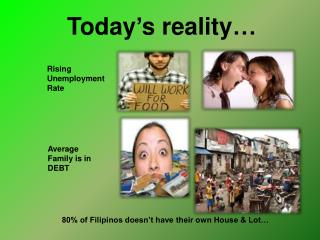 Today's reality…