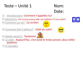Introductions :  Comment  t'appelles-tu ?