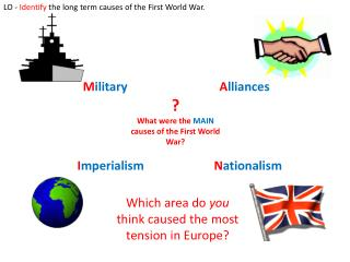 ? What were the MAIN causes of the First World War?
