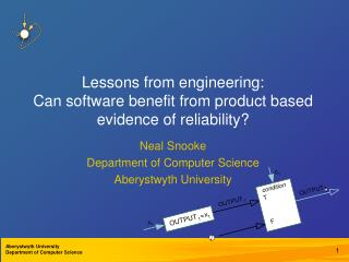 Lessons from engineering: Can software benefit from product based evidence of reliability?
